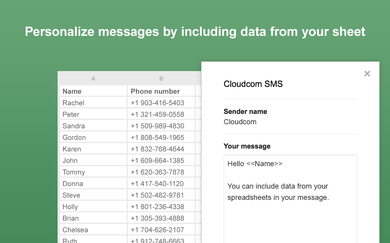 Insert custom data in every message